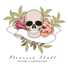 flowers inspired embroidery the vector image