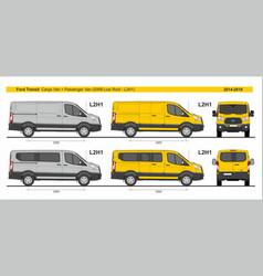 Ford transit l2h1 four type vans set 2014-present vector