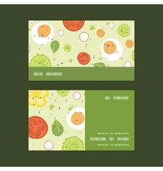 Fresh salad horizontal stripe frame pattern vector