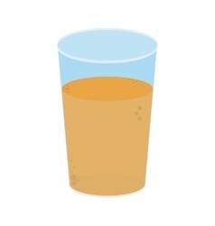 glass with orange juice icon vector image
