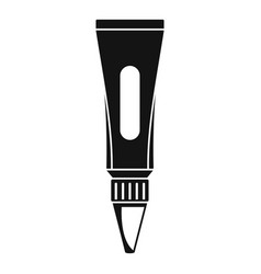 glue tube icon simple style vector image