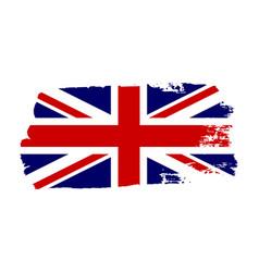 great britain flag jack uk grunge flag isolated vector image