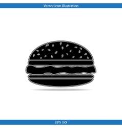 Hamburger web icon vector