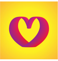 heart curve modern gradient shape template vector image