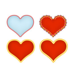 hearts icons set abstract romantic forms of vector image