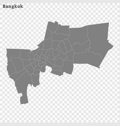 high quality map is a province thailand vector image