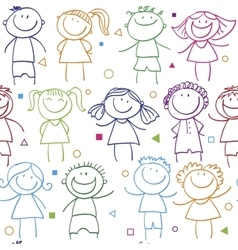 holidays pattern children vector image