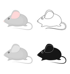 house mouse icon in cartoon style isolated on vector image vector image