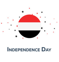 independence day of yemen patriotic banner vector image