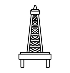 Isoalted petro tower graphic vector