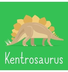 Kentrosaurus dinosaur colorful card for kids vector