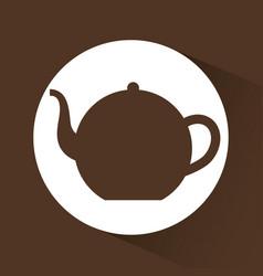 Kettle coffee shop design vector