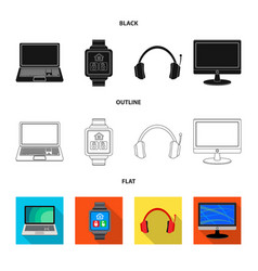 laptop and device logo vector image