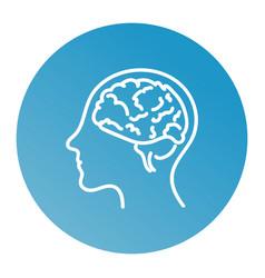 line icon- brain vector image