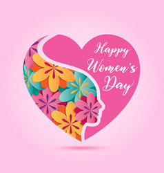 march 8 women day design element vector image