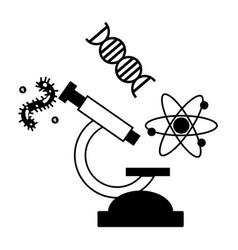 microscope laboratory science vector image