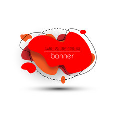 modern abstract banner red bright label vector image