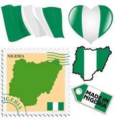 national colours of Nigeria vector image