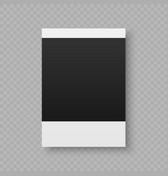 Olaroid photo frame vector
