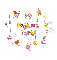 Pajama party vector