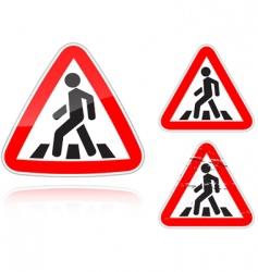 pedestrian crossing vector image