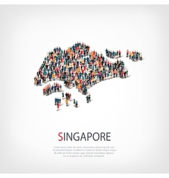 People map country Singapore vector