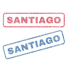Santiago textile stamps vector
