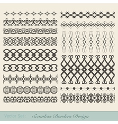 Seamless Borders Design vector image