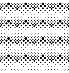seamless retro black and white circle pattern vector image