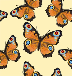 Seamless texture flight Butterfly -Inachis-io vector