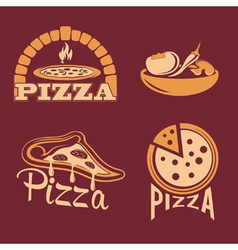 set for pizzeria or Italian restaurant vector image