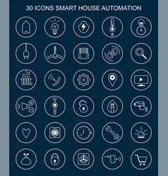 Smart home buttons vector