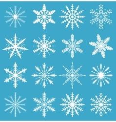 Snowflakes set Icons set snowflakes Snowflakes vector image