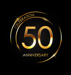 template 50 years anniversary vector image
