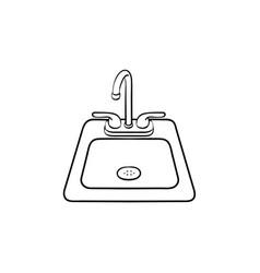toilet sink hand drawn sketch icon vector image