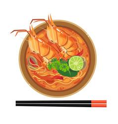Tomyum-noodle vector