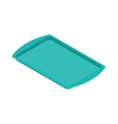 tray isolated salver empty on white background vector image