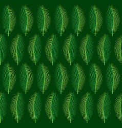 tropical leaf pattern design vector image