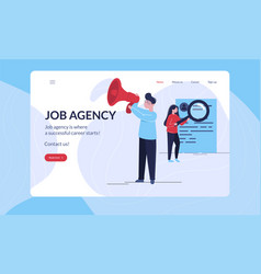 two recruiters reviewing job applications vector image