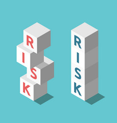 two risks stacks management vector image