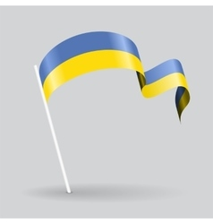 Ukrainian wavy flag vector