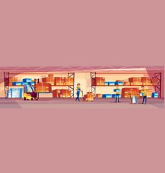Warehouse workers vector