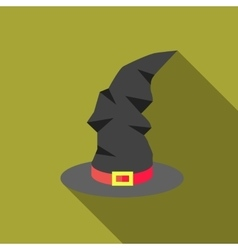 Witch hat icon flat style vector image
