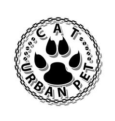 cat-urban pet vector image vector image