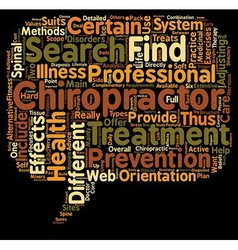 find a chiropractor text background wordcloud vector image vector image