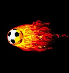 fire soccer ball vector image vector image
