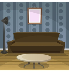 Retro Room Blue vector image