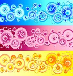 Set pattern circles vector image vector image
