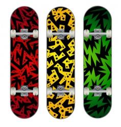 three skateboard designs vector image vector image