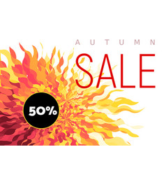 Autumn sale flyer on abstract fall background vector